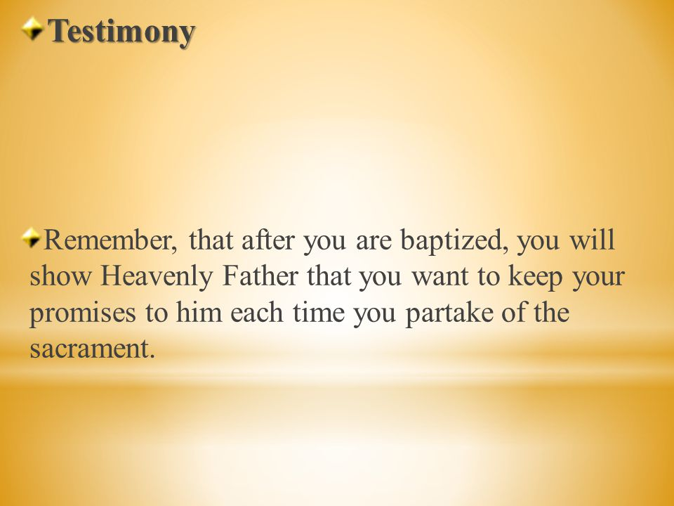 I want to bear you my testimony that Jesus Christ loves us and that he wants us to remember him.