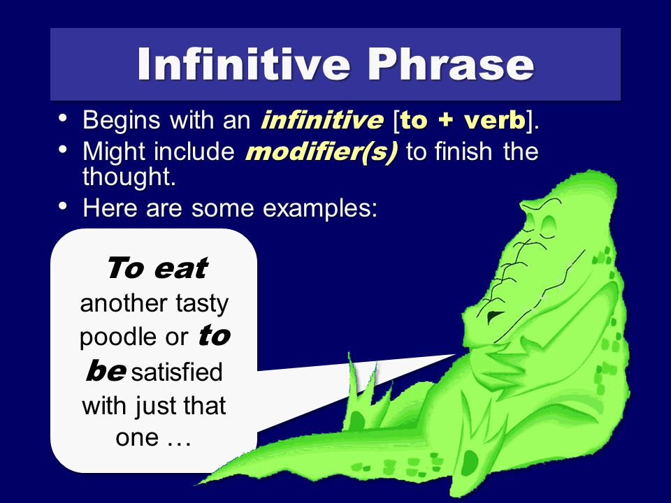 Participle Phrase Begins with a present or past participle.