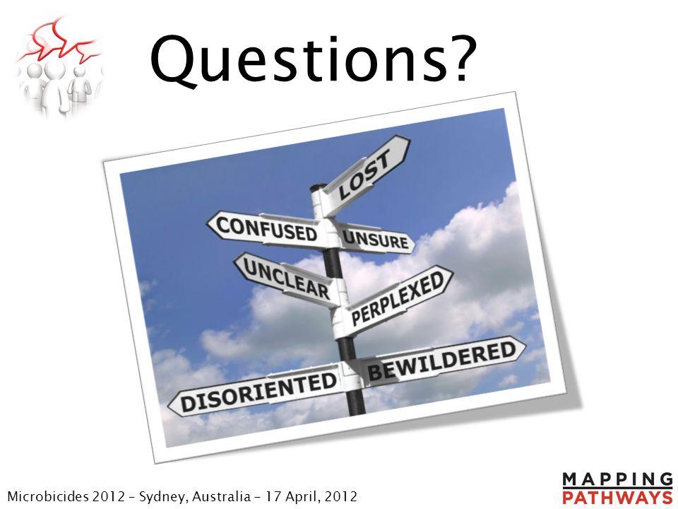 Questions Microbicides 2012 – Sydney, Australia - 17 April, 2012