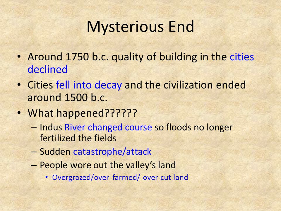 Mysterious End Around 1750 b.c.