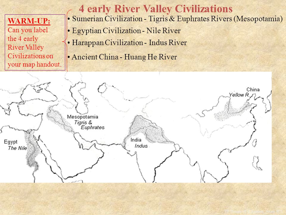 4 early River Valley Civilizations Ancient China - Huang He River PP Design of T.