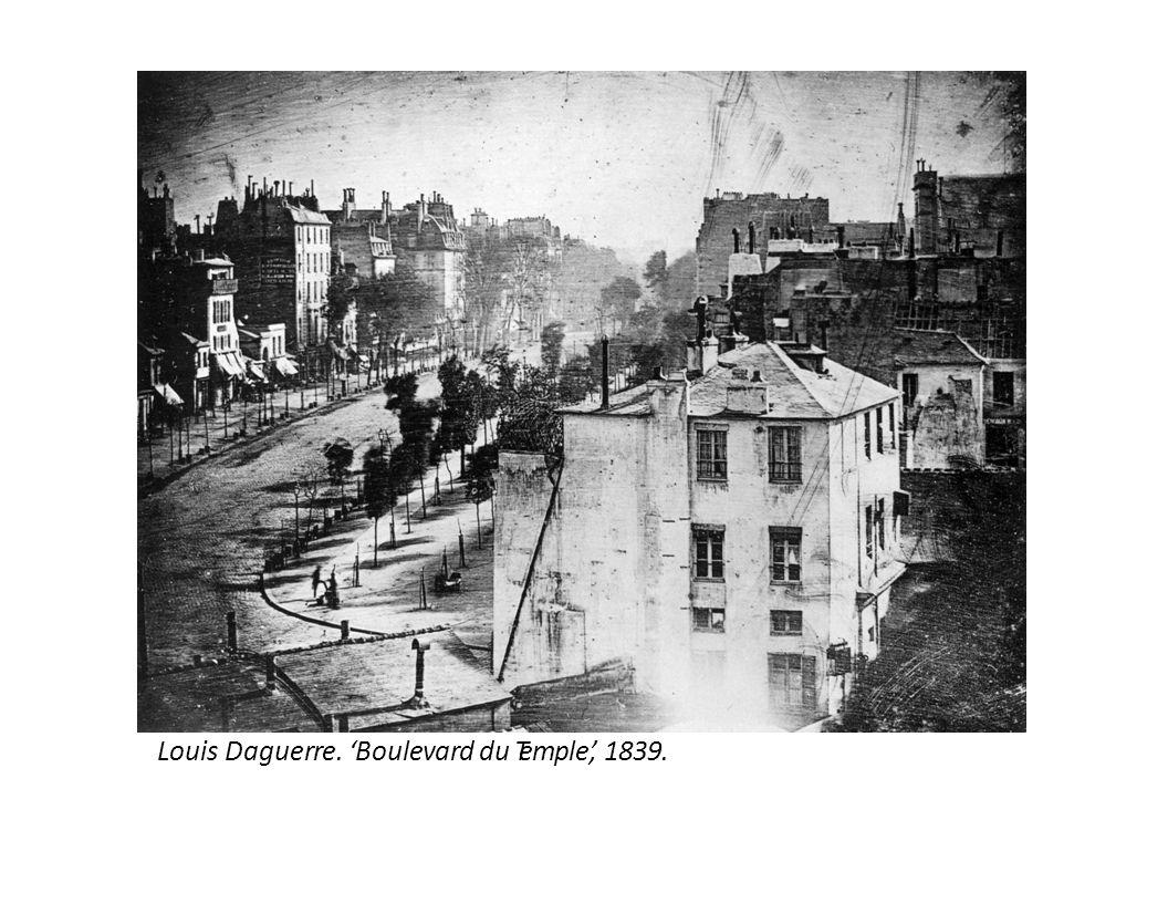 Louis Daguerre. 'Boulevard du Temple,' 1839.