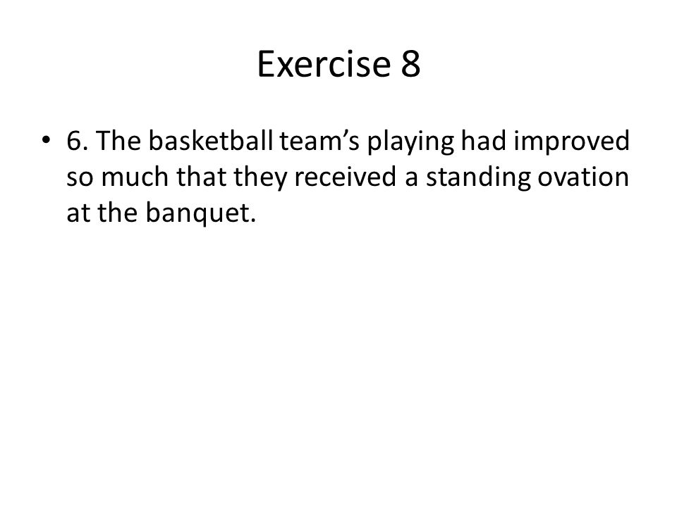 Exercise 8 6.