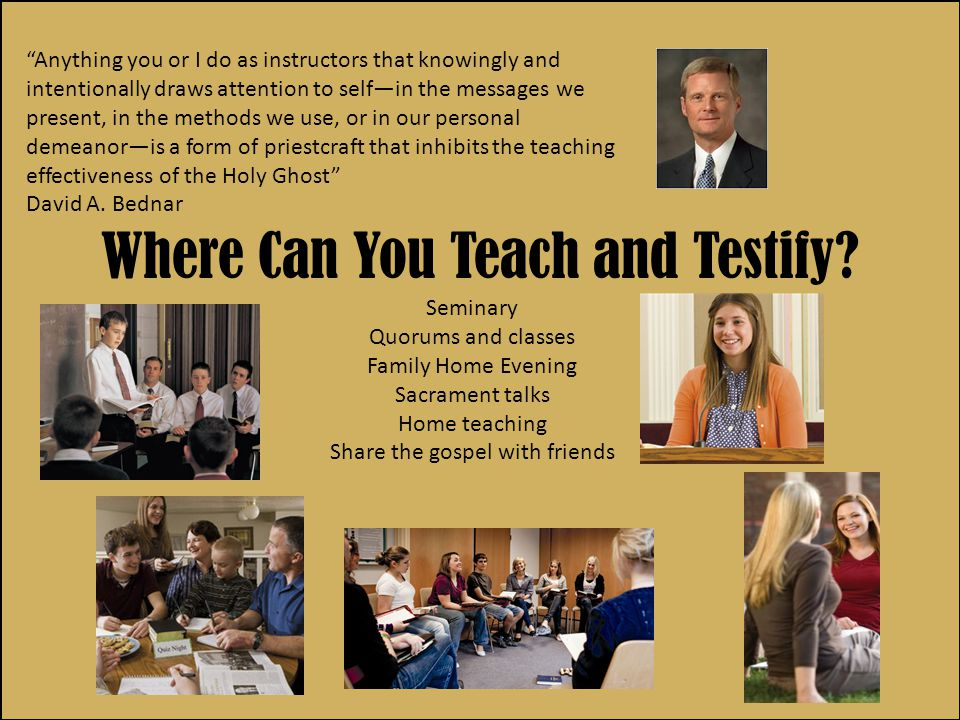 Where Can You Teach and Testify.