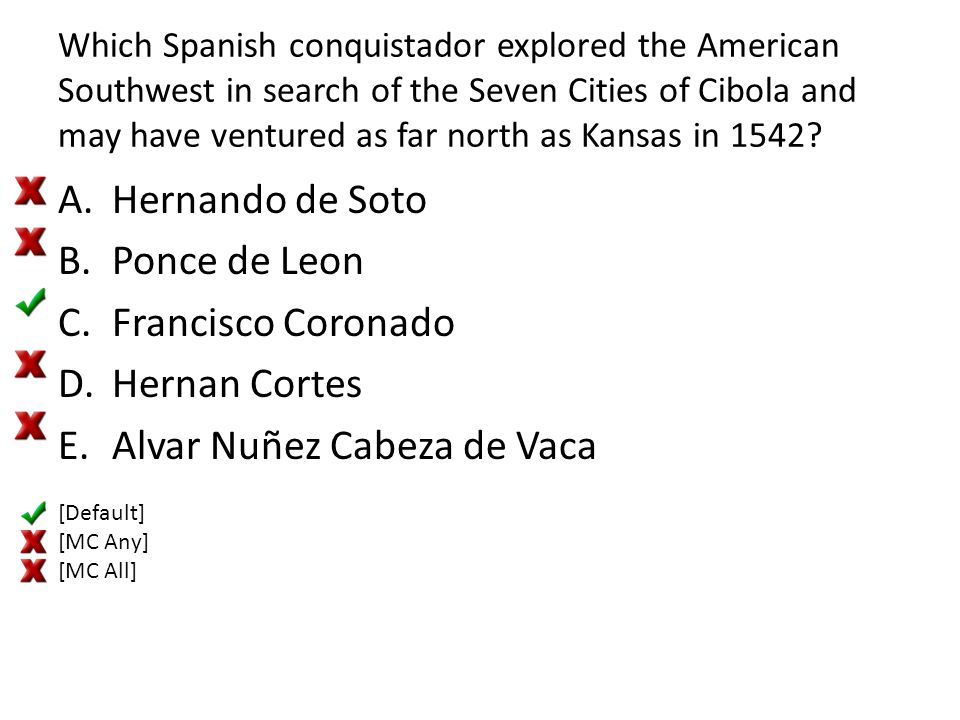 Which Spanish conquistador explored the American Southwest in search of the Seven Cities of Cibola and may have ventured as far north as Kansas in 154