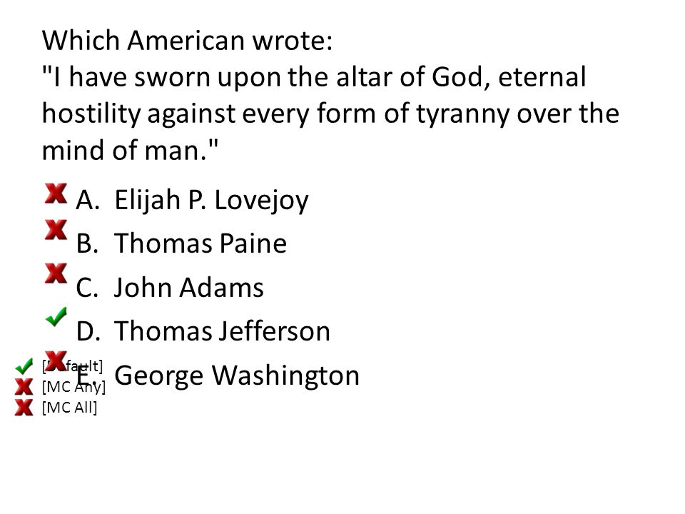 Which American wrote: