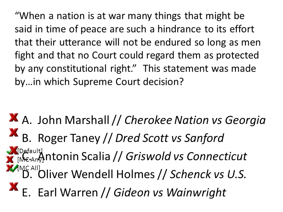 """""""When a nation is at war many things that might be said in time of peace are such a hindrance to its effort that their utterance will not be endured s"""