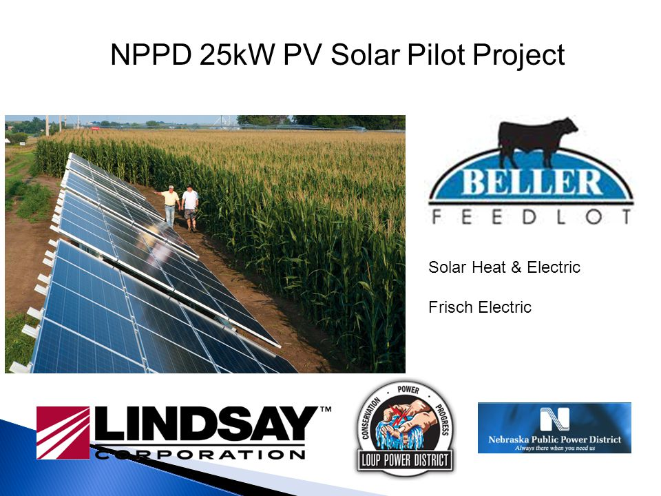 NPPD 25kW PV Solar Pilot Project Solar Heat & Electric Frisch Electric