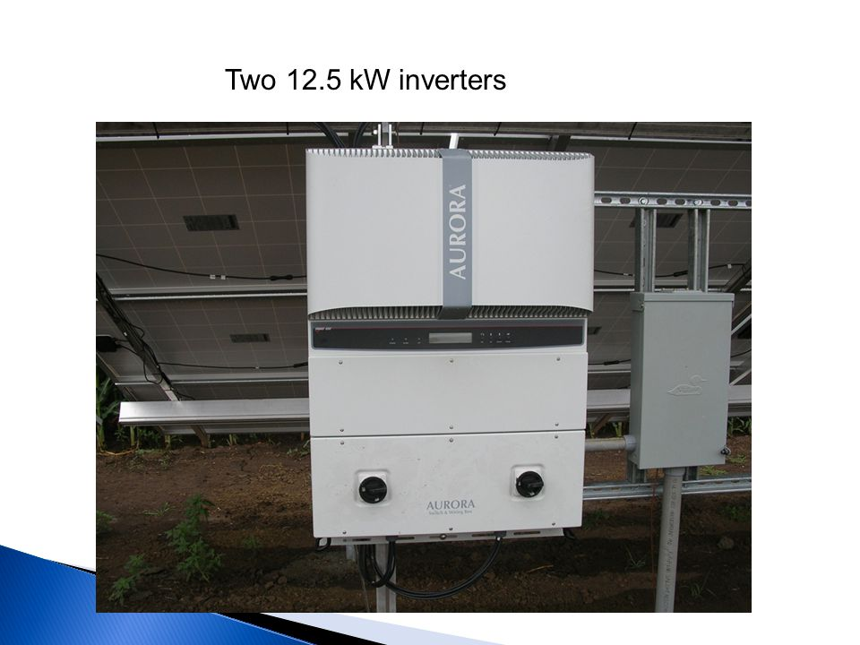 Two 12.5 kW inverters