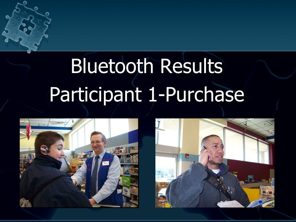 Bluetooth Results Participant 1-Purchase Bluetooth Results Participant 1-Purchase
