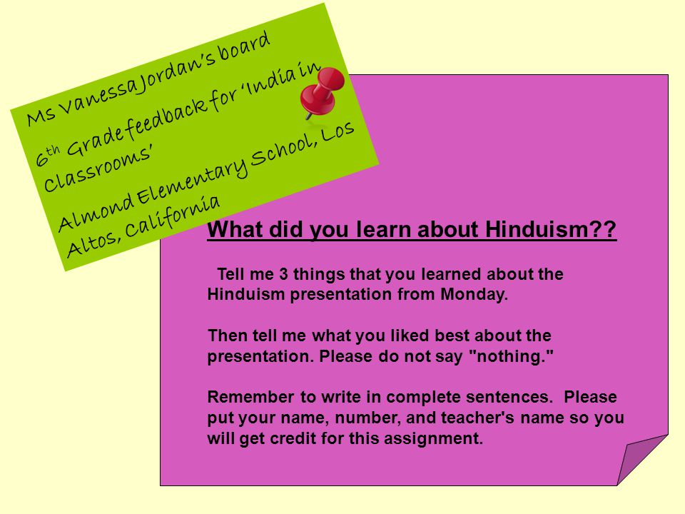 What did you learn about Hinduism .