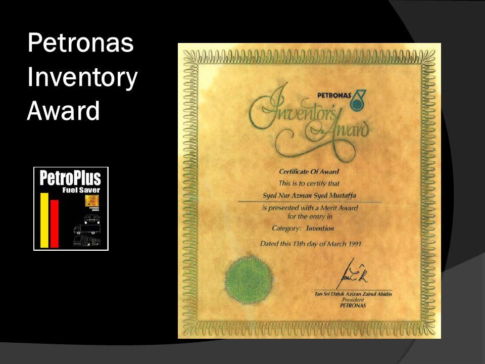 Petronas Inventory Award