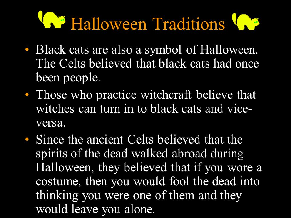 8 Halloween Traditions Black cats are also a symbol of Halloween.