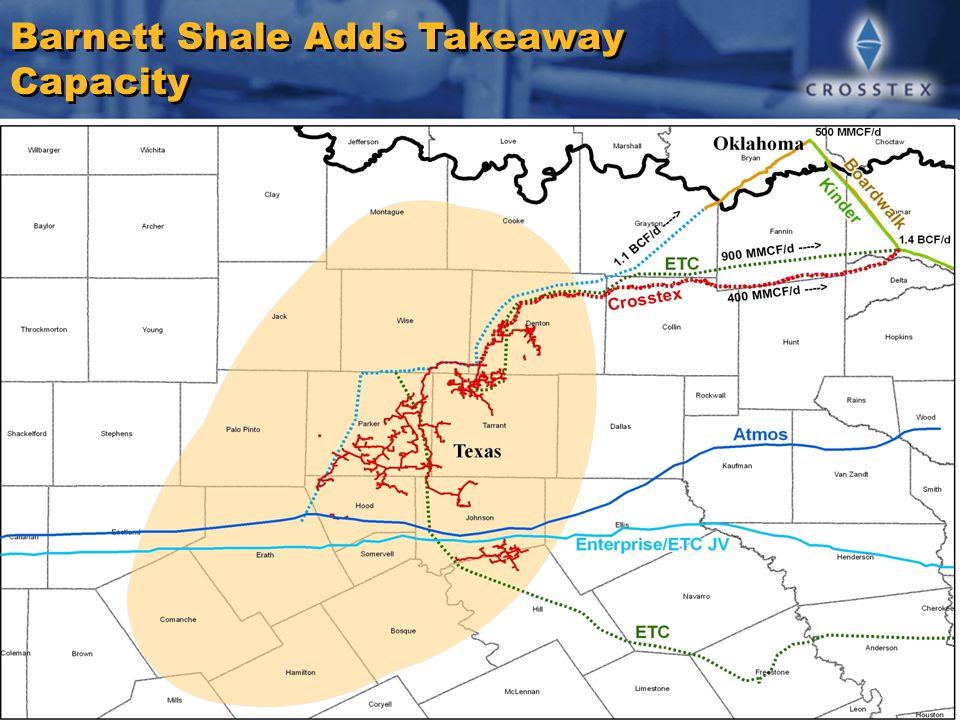 Barnett Shale Adds Takeaway Capacity
