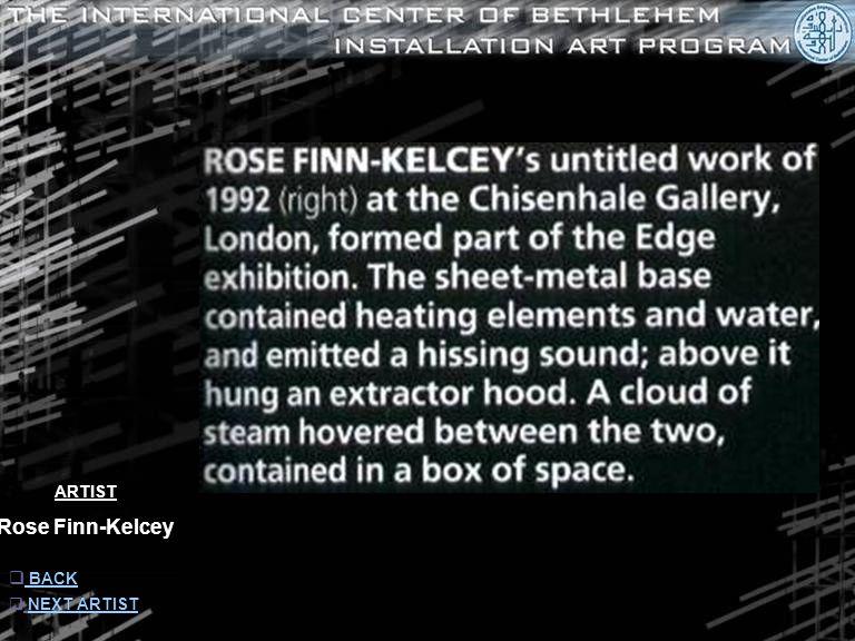 ARTIST Rose Finn-Kelcey  INFORMATION INFORMATION  NEXT ARTISTNEXT ARTIST