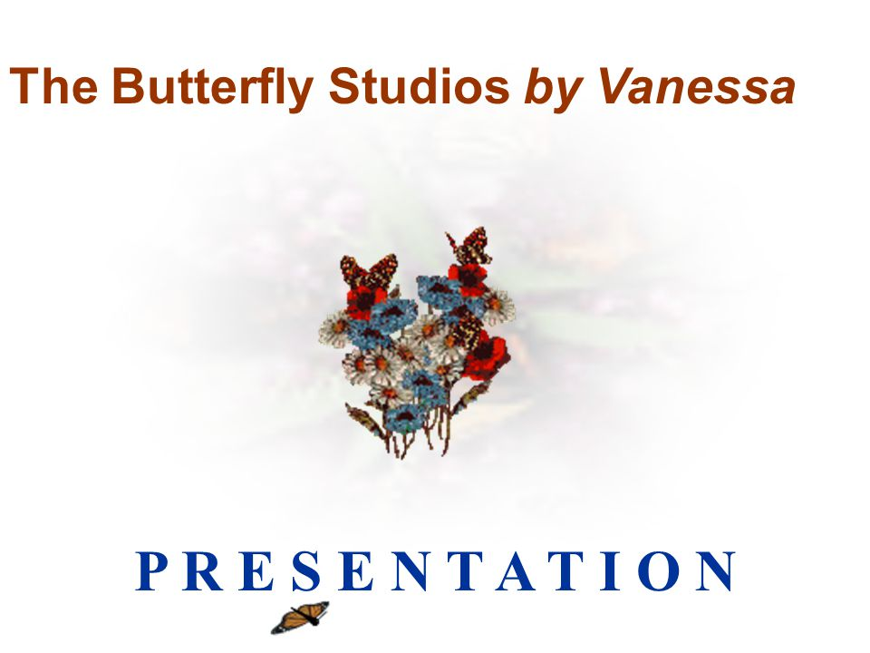 utterfly Studios by Vanessa The Butterfly Studios by Vanessa P R E S E N T A T I O N