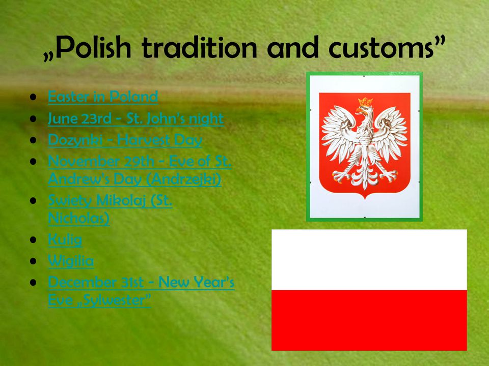"""Polish tradition and customs Easter in Poland June 23rd - St."