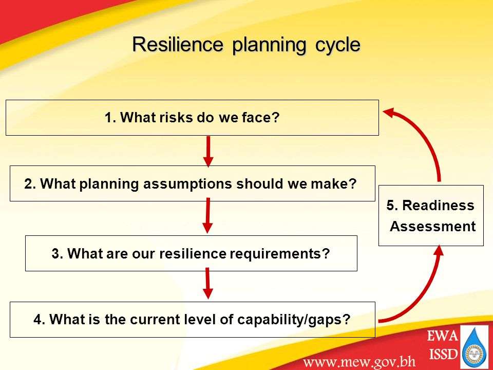 1. What risks do we face. 2. What planning assumptions should we make.