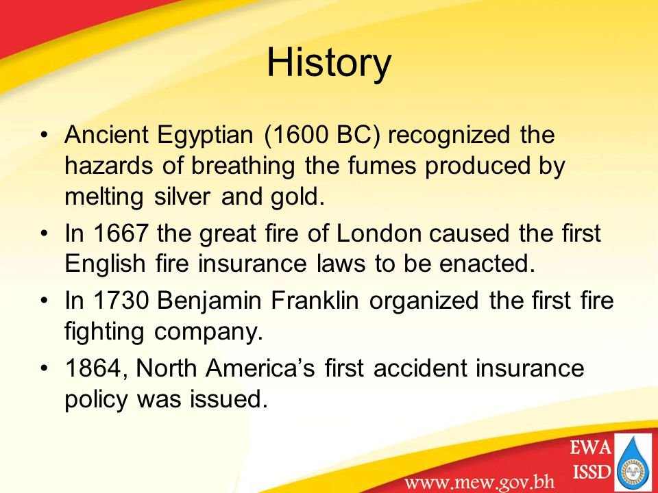 History Ancient Egyptian (1600 BC) recognized the hazards of breathing the fumes produced by melting silver and gold.