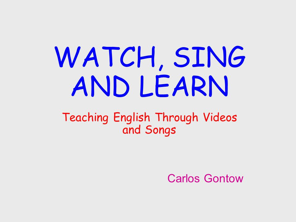 Note: I can't include the songs or videos in the Power Point presentation for copyright reasons.