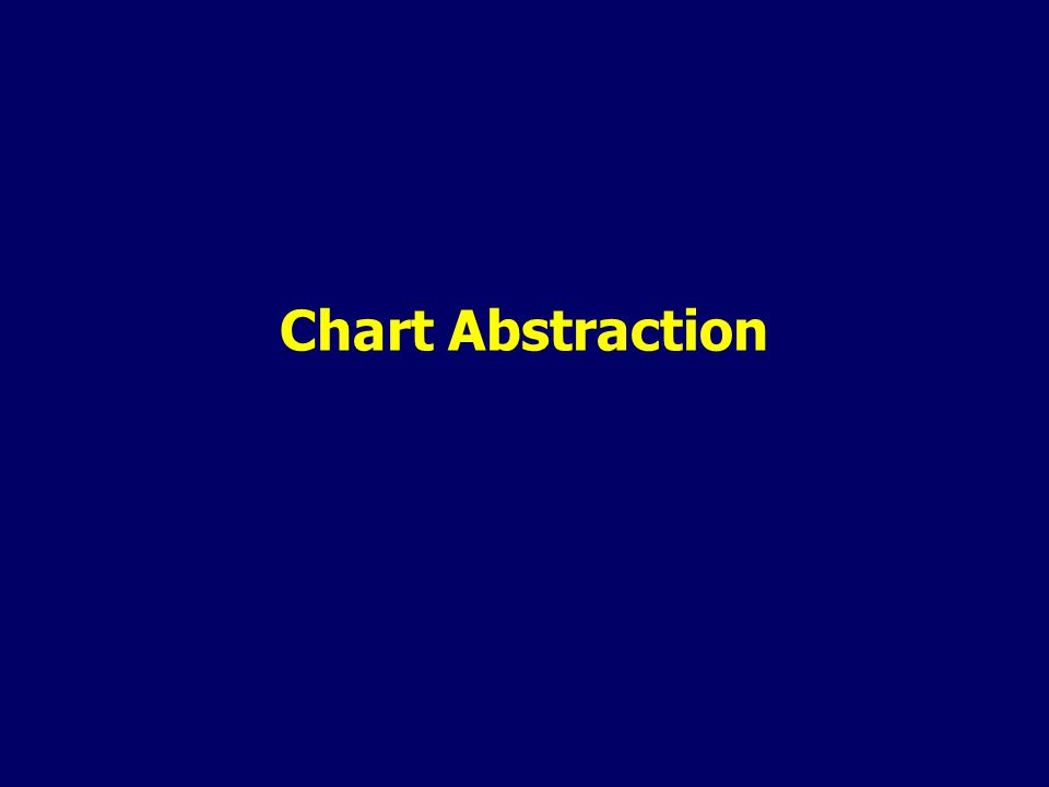 Chart Abstraction