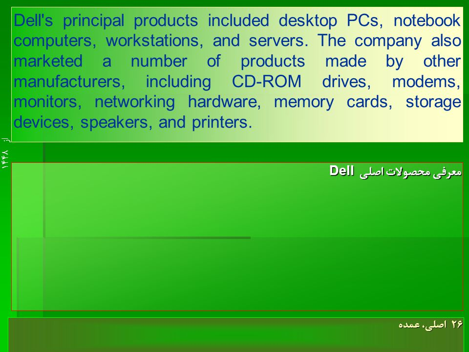 از 14489 Dell was readying Premier Page software improvements for introduction in the second half of 1998 with even greater functionality.