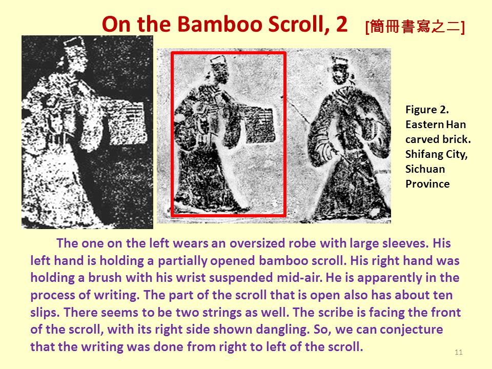 On the Bamboo Scroll, 2 [ 簡冊書寫之二 ] Figure 2. Eastern Han carved brick.