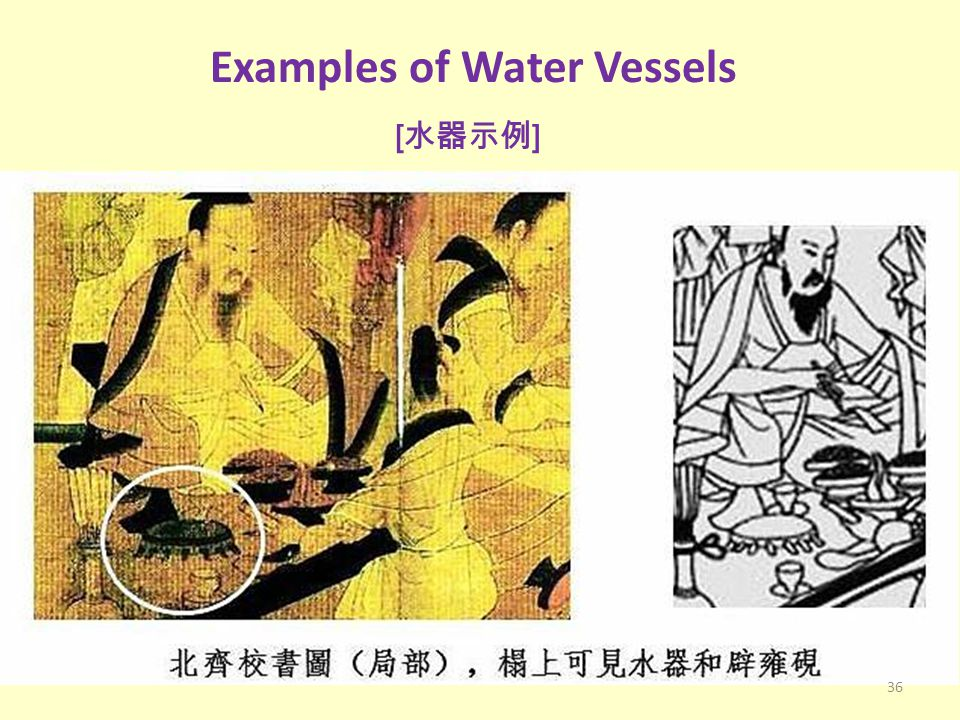 Examples of Water Vessels [ 水器示例 ] 36