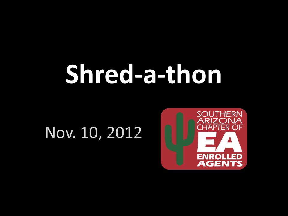 Shred-a-thon Nov. 10, 2012