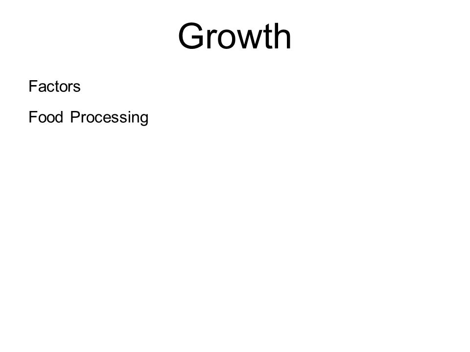 Growth Factors Food Processing