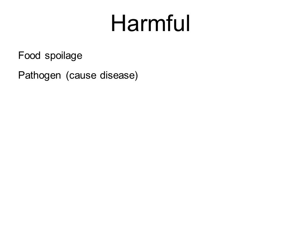 Harmful Food spoilage Pathogen (cause disease)