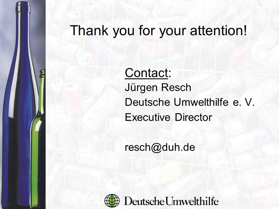 Contact: Jürgen Resch Deutsche Umwelthilfe e. V.