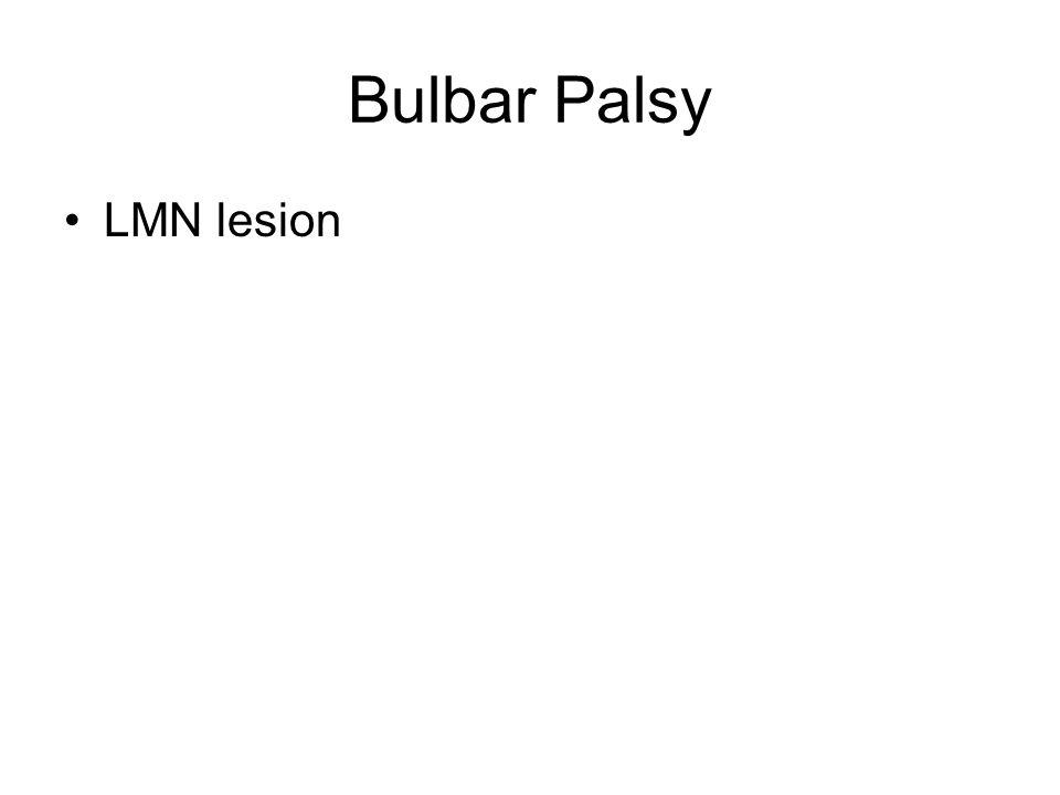 Bulbar Palsy LMN lesion