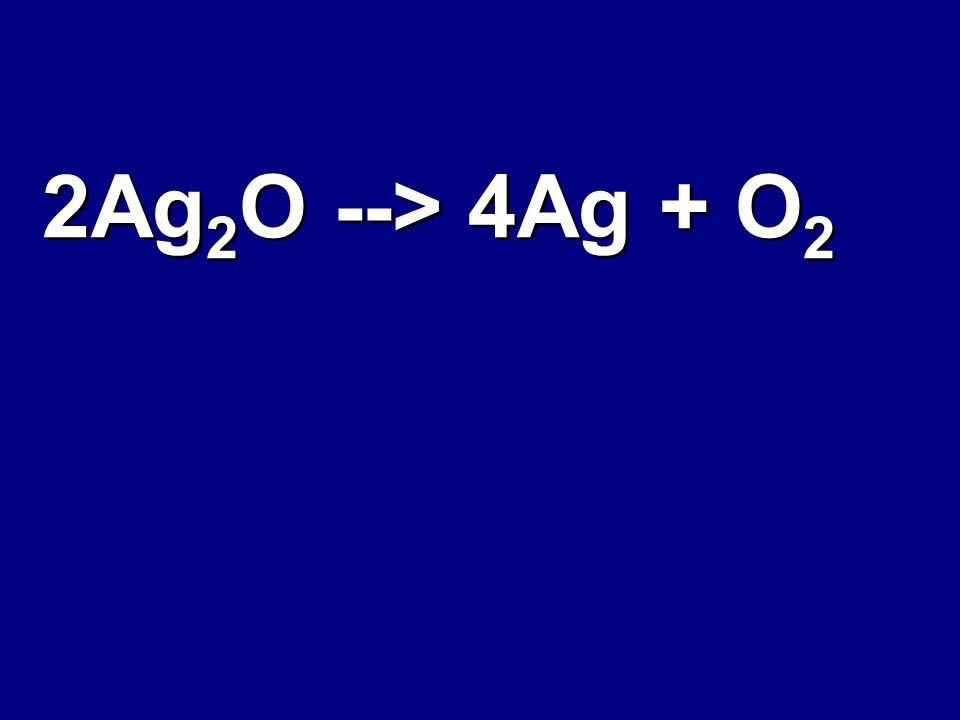 2Ag 2 O --> 4Ag + O 2