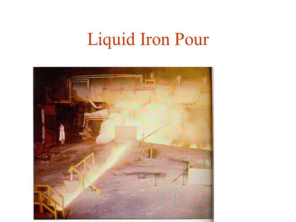 Liquid Iron Pour