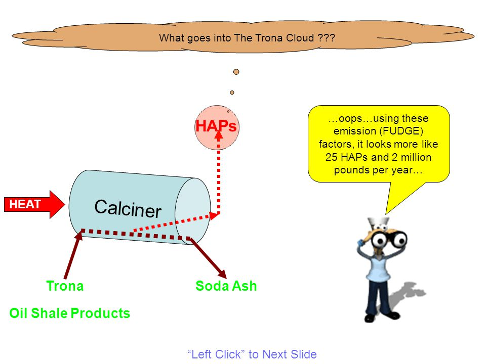 Calciner TronaSoda Ash HEAT Oil Shale Products HAPs What goes into The Trona Cloud .