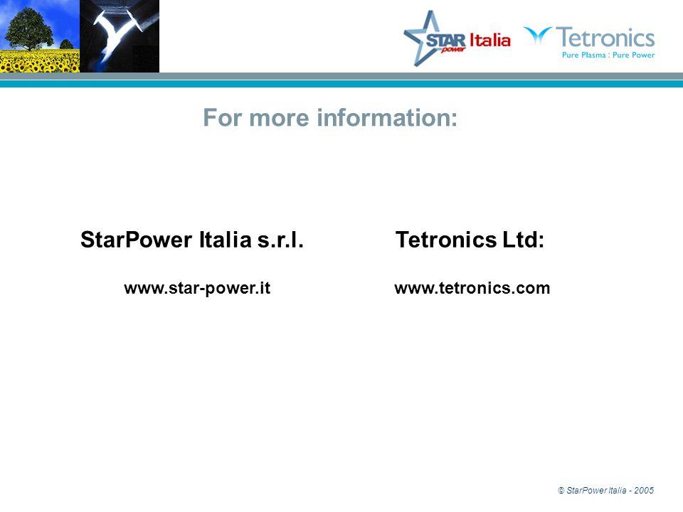 © StarPower Italia - 2005 StarPower Italia s.r.l.