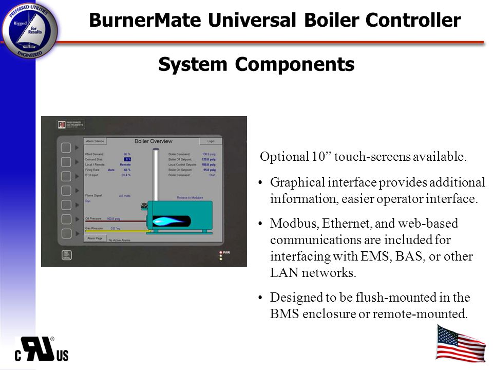 Boiler Control Functions Remote setpoint and remote firing rate control.
