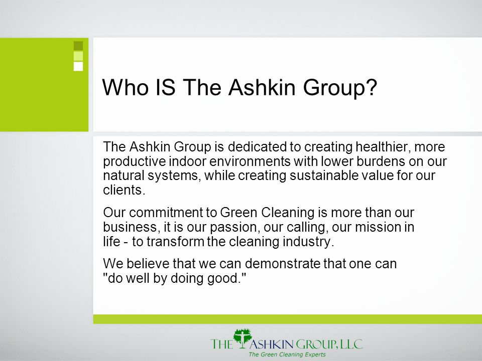 Who IS The Ashkin Group.