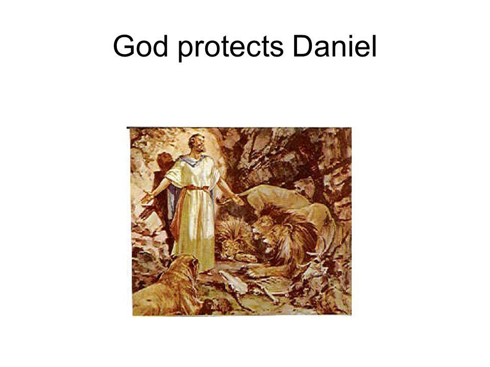 God protects Daniel