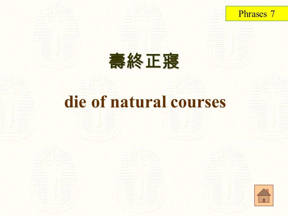 太隱密而未被發現 too well-covered to be noticed Phrases 6