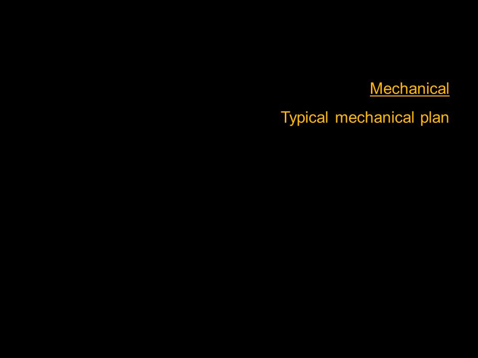Mechanical Typical mechanical plan
