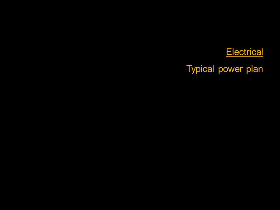 Electrical Typical power plan