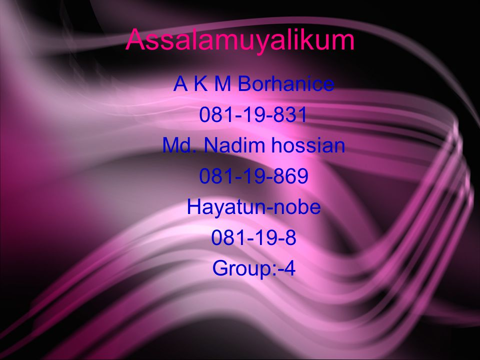 Assalamuyalikum A K M Borhanice 081-19-831 Md.