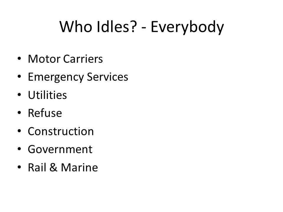 Why Idle.