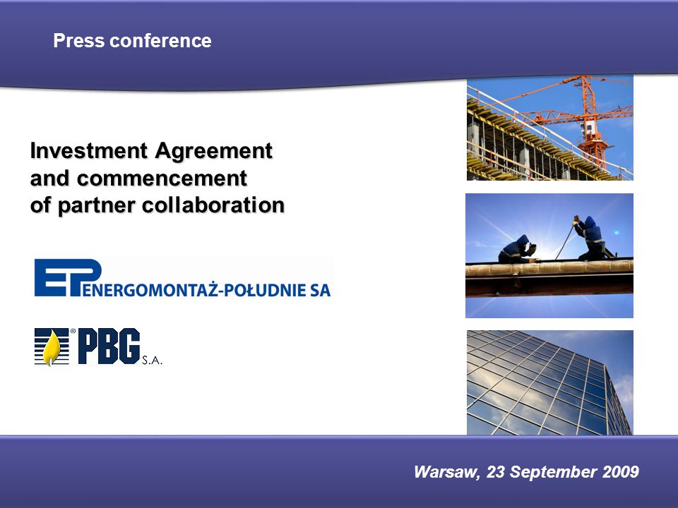 2 Contents ●Main transaction assumptions ●Investment plans of the Polish power engineering sector – market potential ●Transaction parties – basic information ●Prospective synergies ●Contact ●Appendix – detailed information on the transaction parties