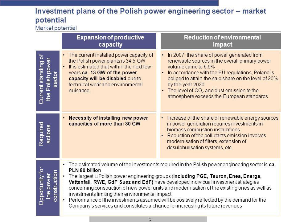 6 Transaction parties – basic information (1) Scale of activity Revenues of PLN 240 million in 2008 Energomontaż-Południe S.A.
