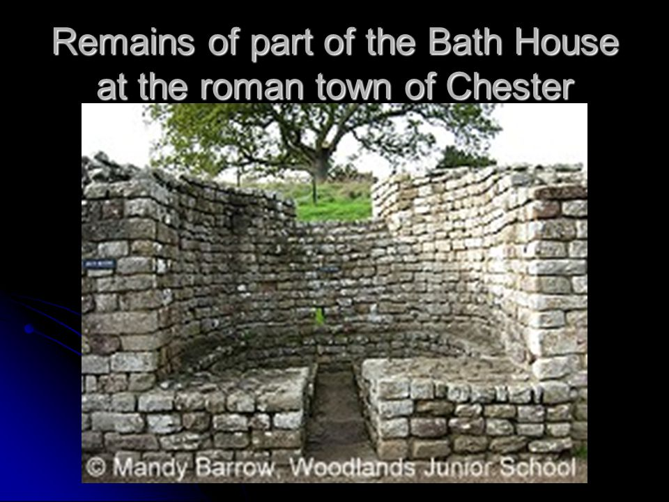 Remains of part of the Bath House at the roman town of Chester