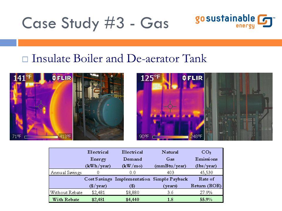 Case Study #3 - Gas  Insulate Boiler and De-aerator Tank
