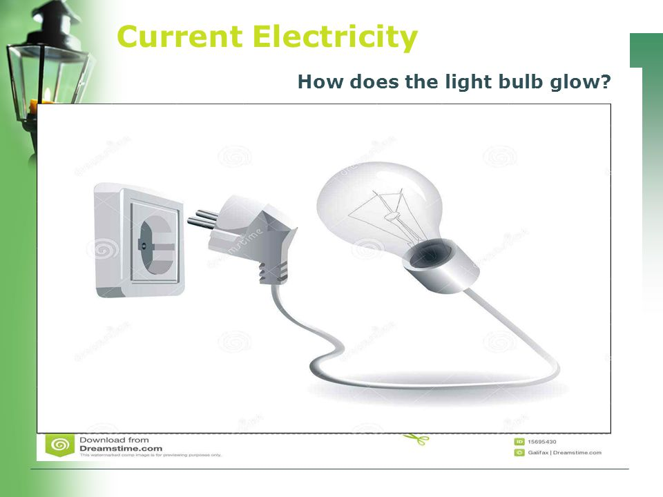 Current Electricity How does the light bulb glow?